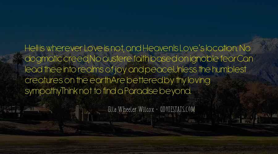 Peace Love Faith Quotes #786591