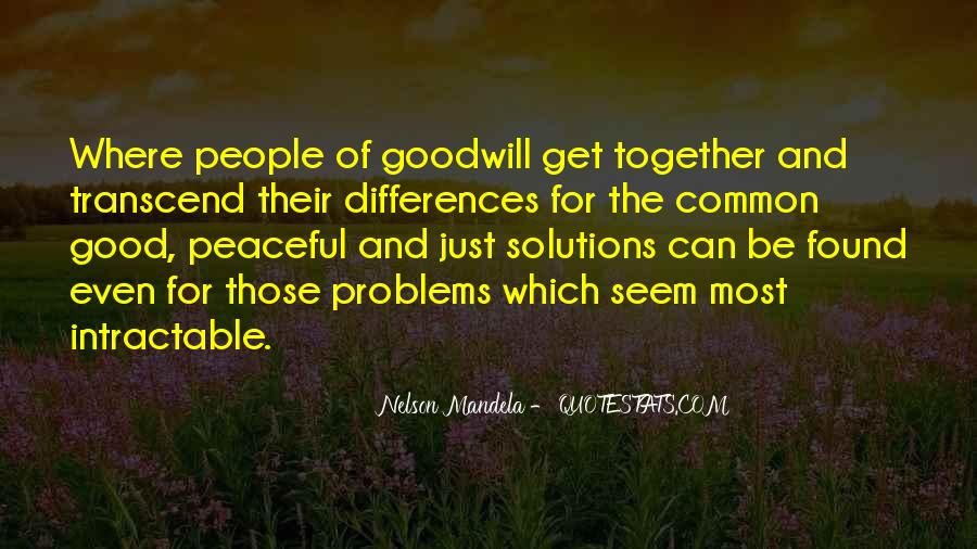 Peaceful Solutions Quotes #297117