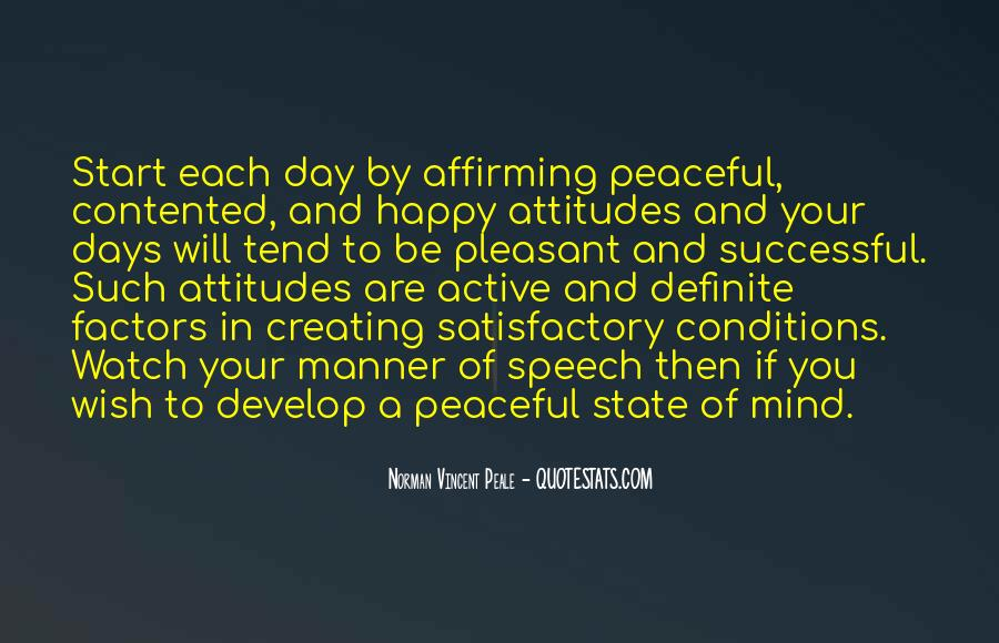 Peaceful State Of Mind Quotes #1105876
