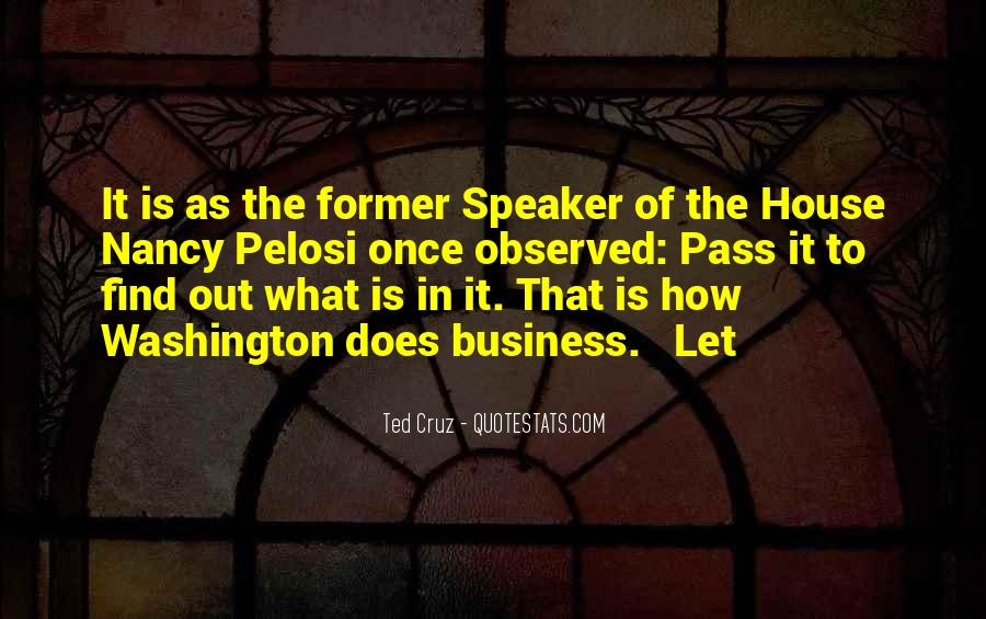 Pelosi's Quotes #130308