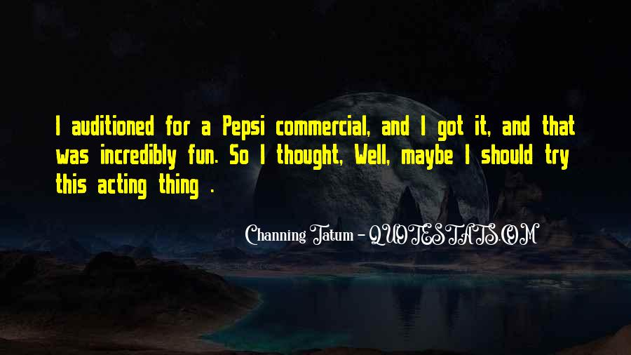 Pepsi Commercial Quotes #1461053