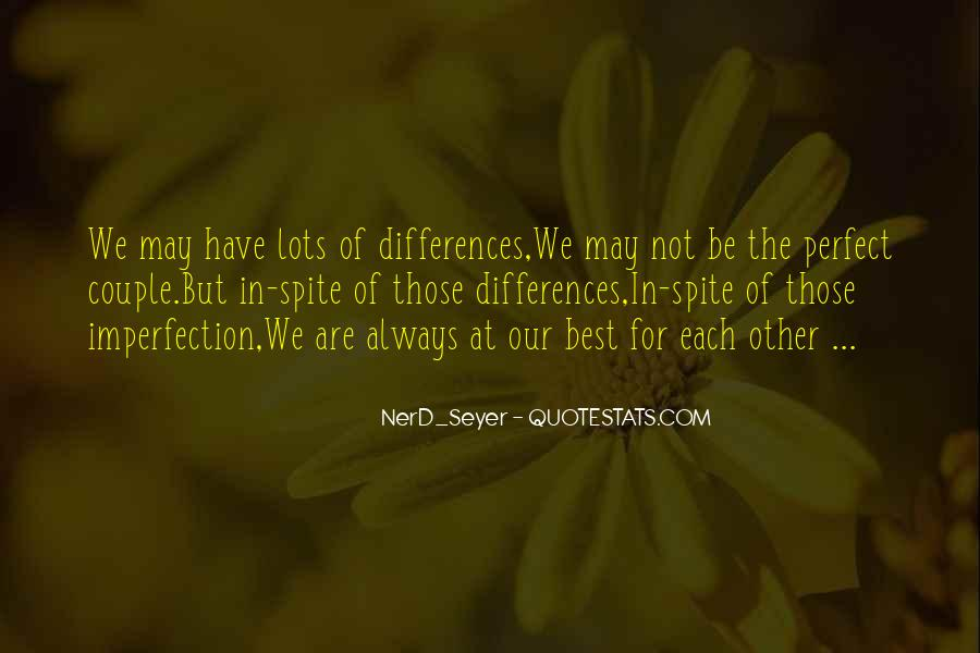 Perfect Imperfection Love Quotes #47767