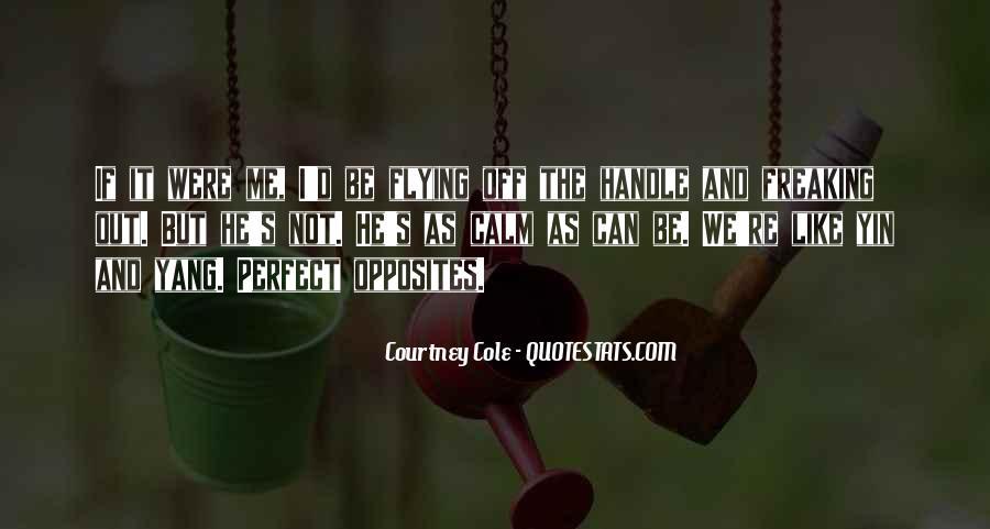 Perfect Opposites Quotes #1448837