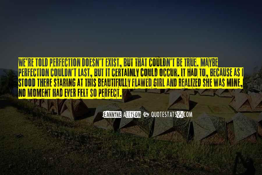 Perfection Doesn Exist Quotes #1192242