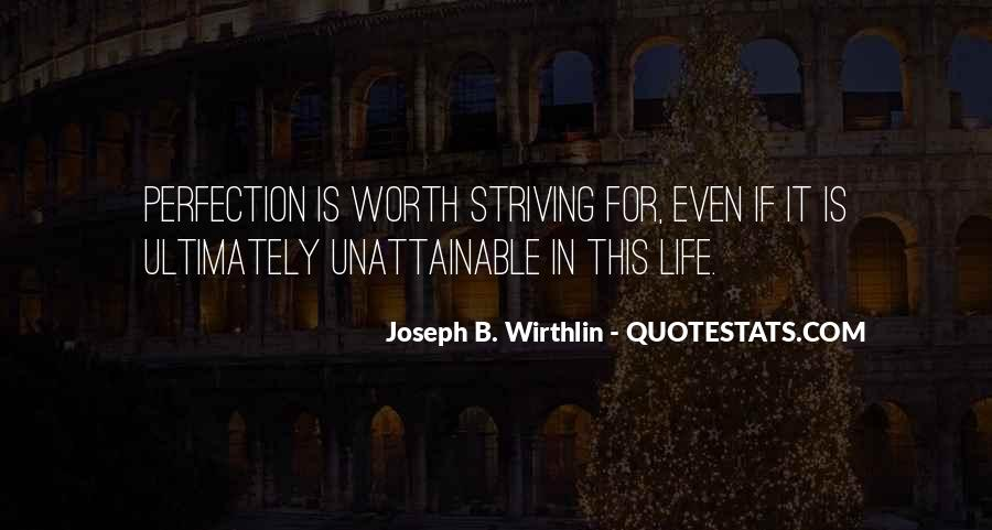 Perfection Unattainable Quotes #1453124