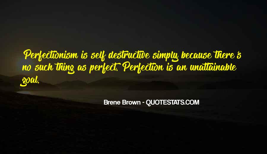Perfection Unattainable Quotes #1477847
