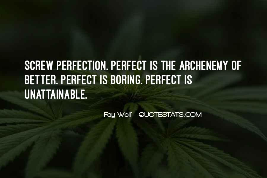 Perfection Unattainable Quotes #1490174