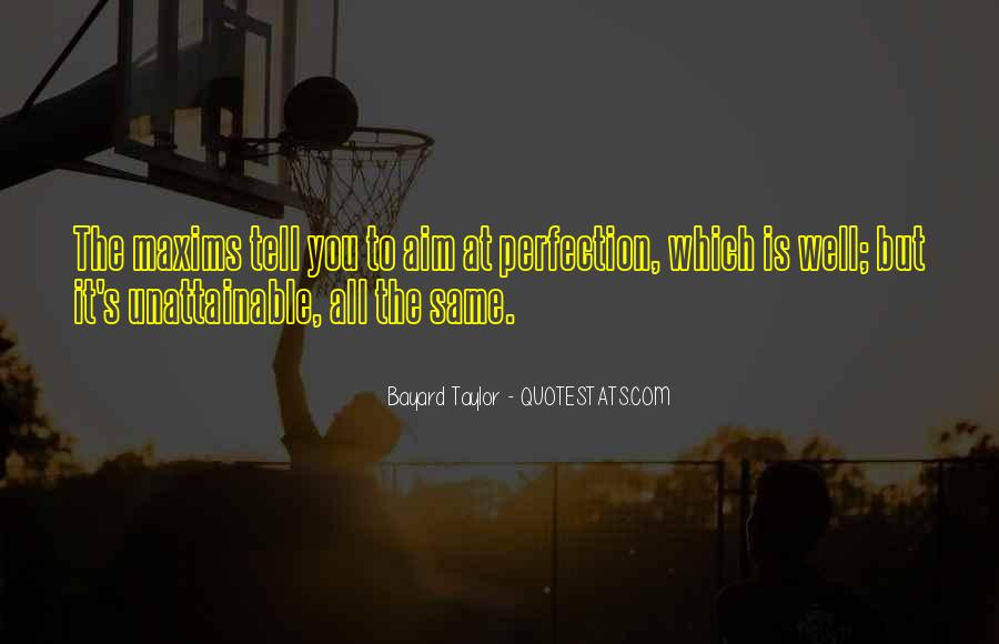 Perfection Unattainable Quotes #1796579
