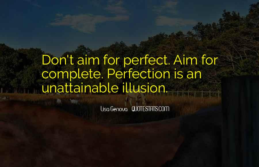 Perfection Unattainable Quotes #655579