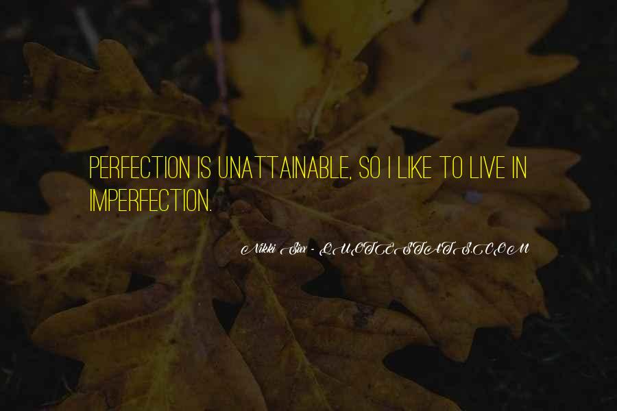 Perfection Unattainable Quotes #83123