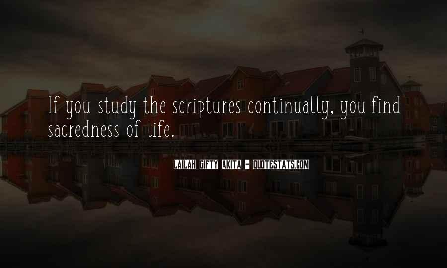 Quotes About Bible Sacredness Of Life #37762