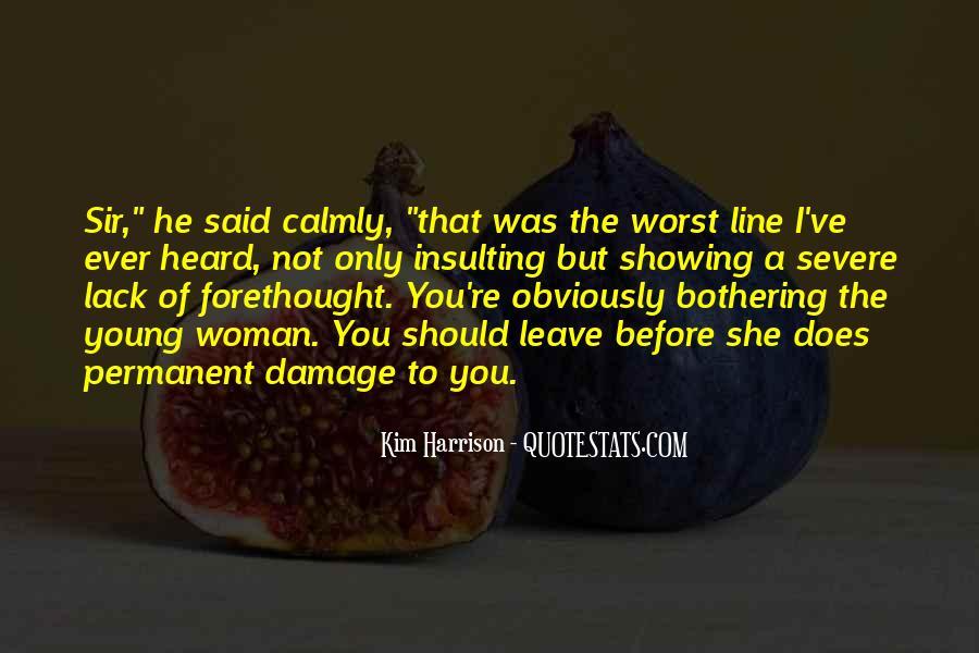Permanent Damage Quotes #1446415