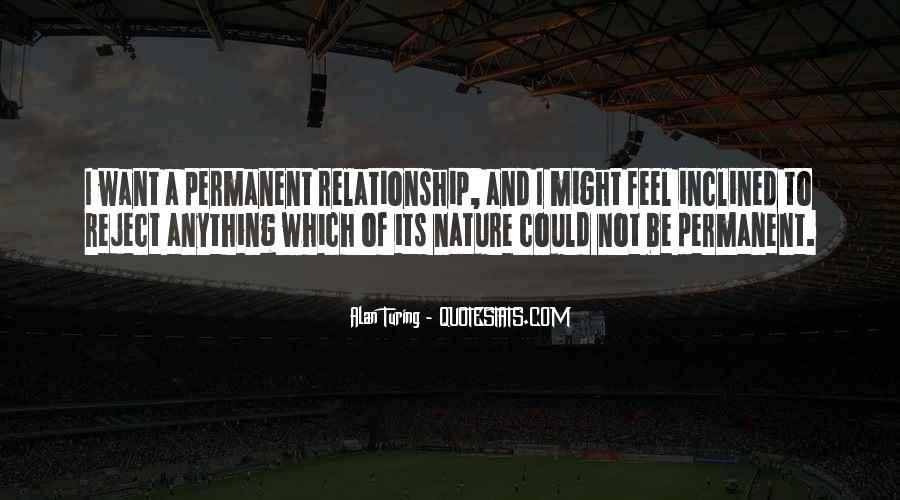 Permanent Relationship Quotes #276940