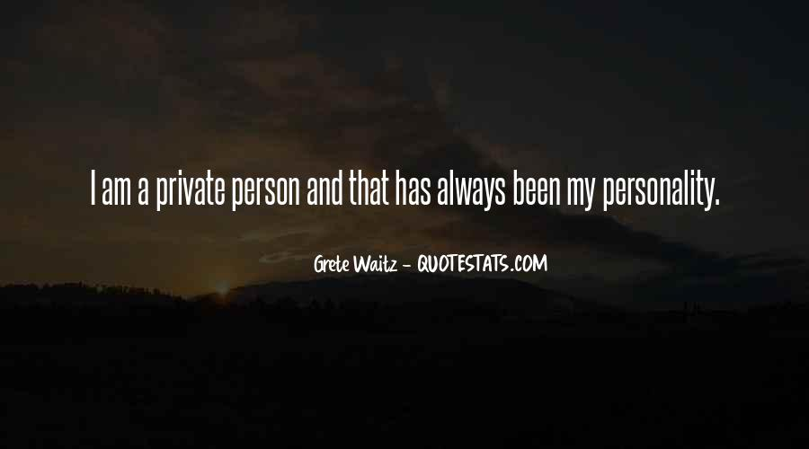 Personality And Quotes #61452