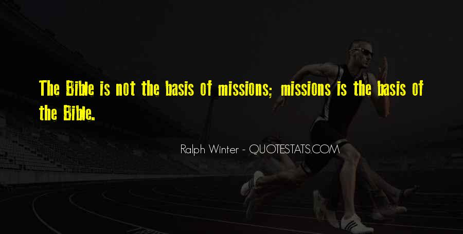 Quotes About Bible Missions #550217