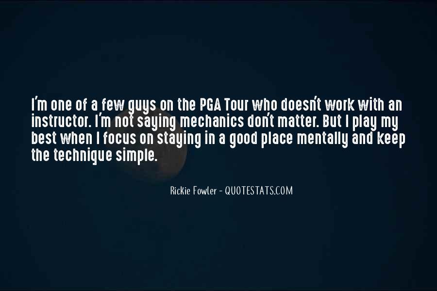 Pga Tour Quotes #367951