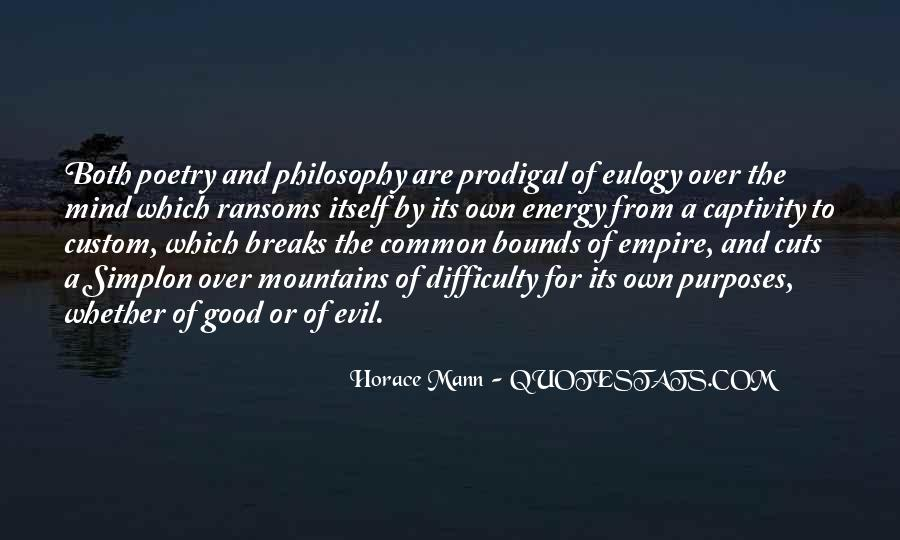 Philosophy Good And Evil Quotes #1268310