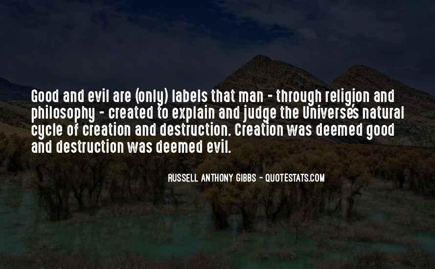 Philosophy Good And Evil Quotes #372272