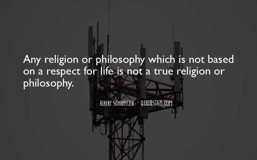 Philosophy Vs Religion Quotes #67155