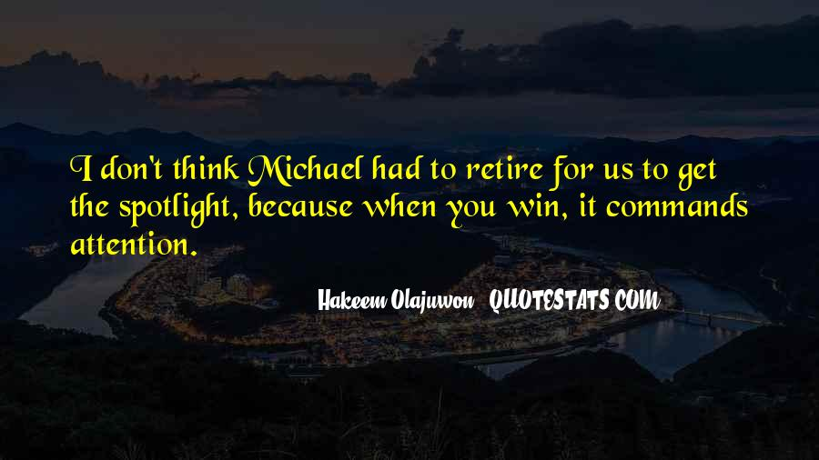 Quotes About Hakeem Olajuwon #1437480