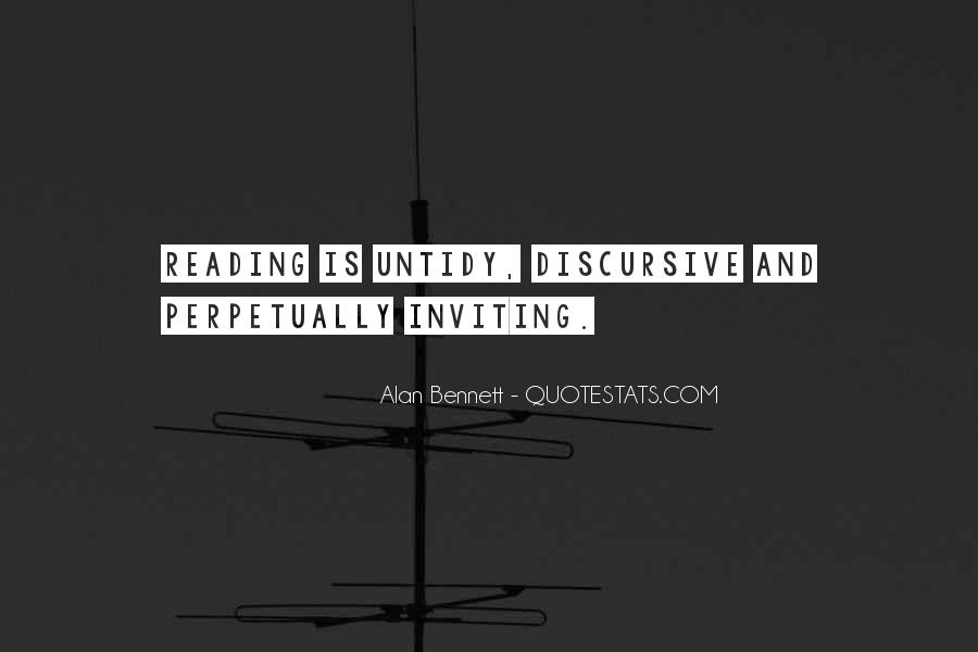 Quotes About Alan Bennett #116522
