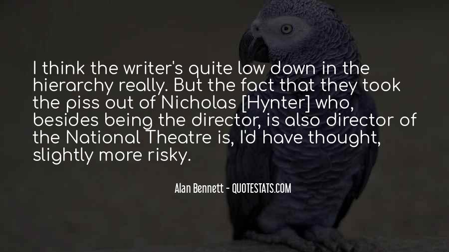 Quotes About Alan Bennett #361060