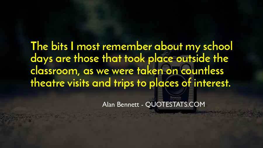 Quotes About Alan Bennett #46859