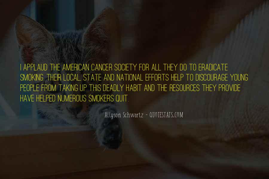 Quotes About American Cancer Society #285940