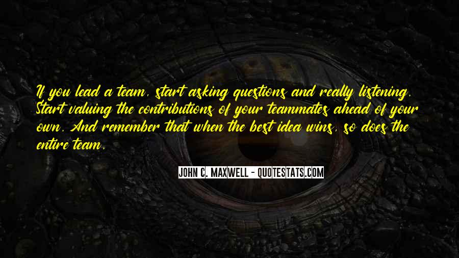 Quotes About A Teammates #419888