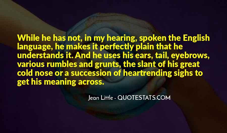 Plain Spoken Quotes #1519666