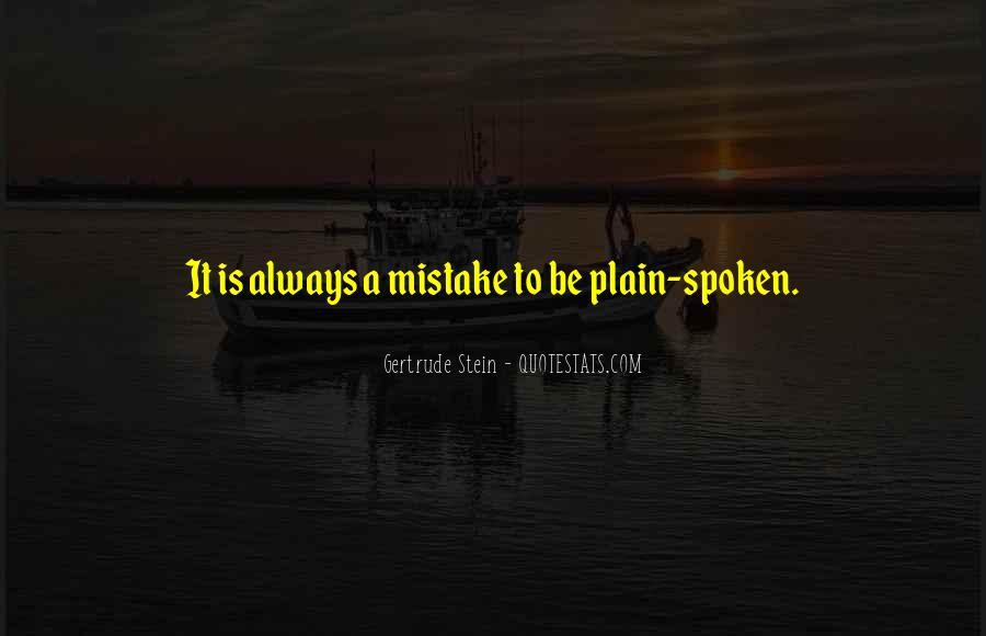 Plain Spoken Quotes #775968
