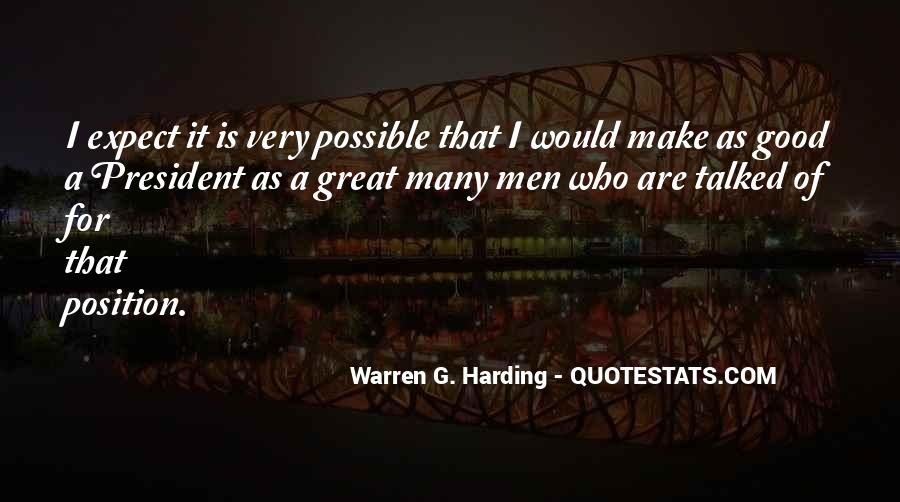 Quotes About Warren G Harding #1580332