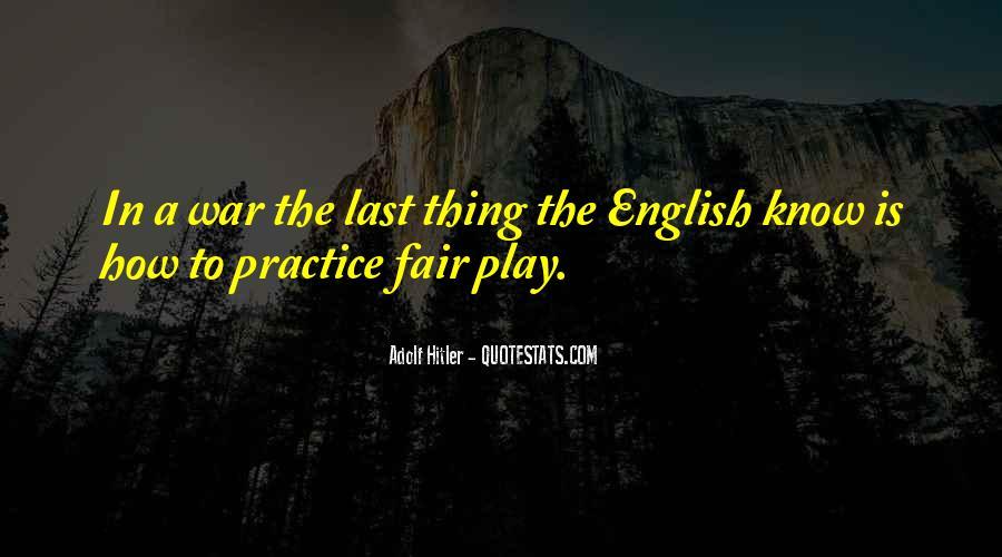 Play Fair Quotes #805079