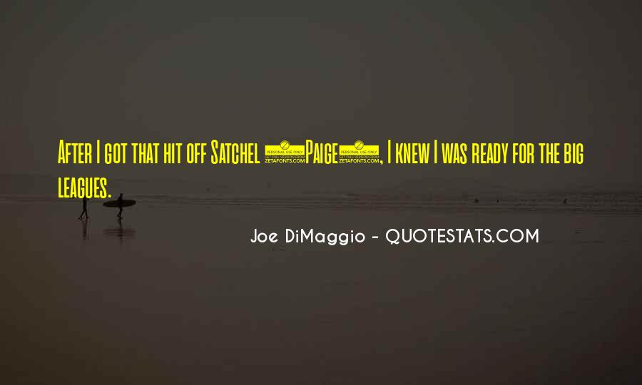Quotes About Joe Dimaggio #426817