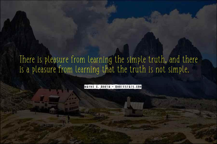 Pleasure In Simple Things Quotes #720980