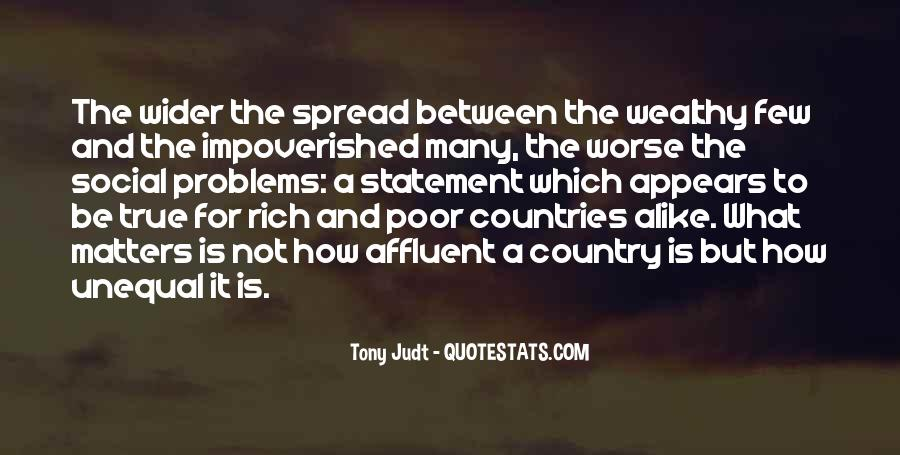 Poor And Wealthy Quotes #1075289