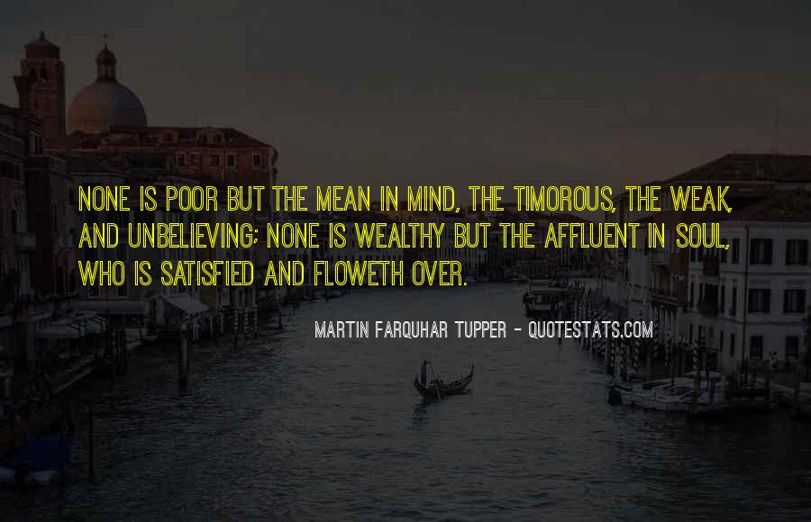 Poor And Wealthy Quotes #1277350