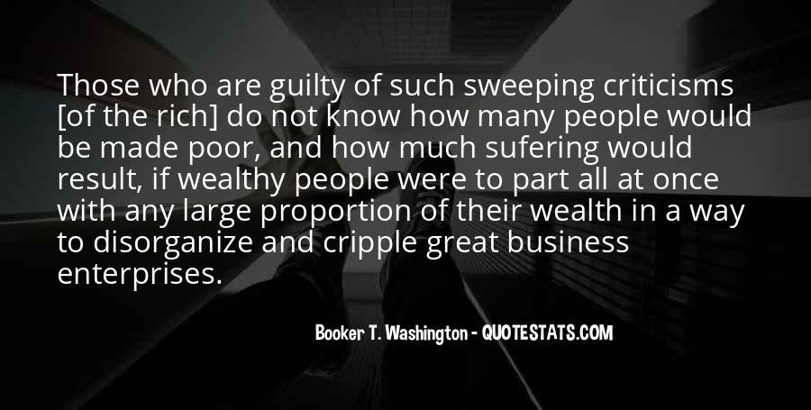 Poor And Wealthy Quotes #1812539