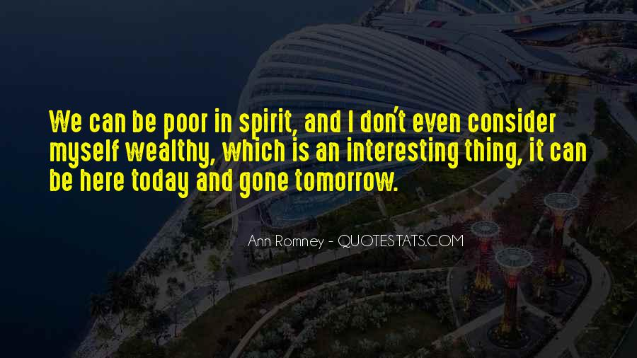 Poor And Wealthy Quotes #566436