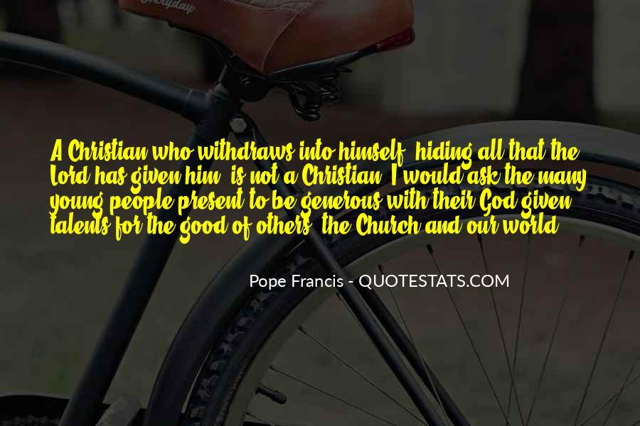 Pope Francis I Quotes #908568