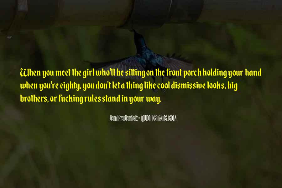 Porch Sitting Quotes #206491