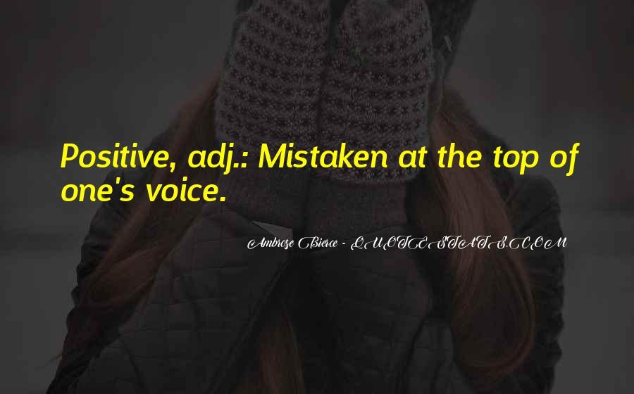 Positive Mistaken Quotes #351194