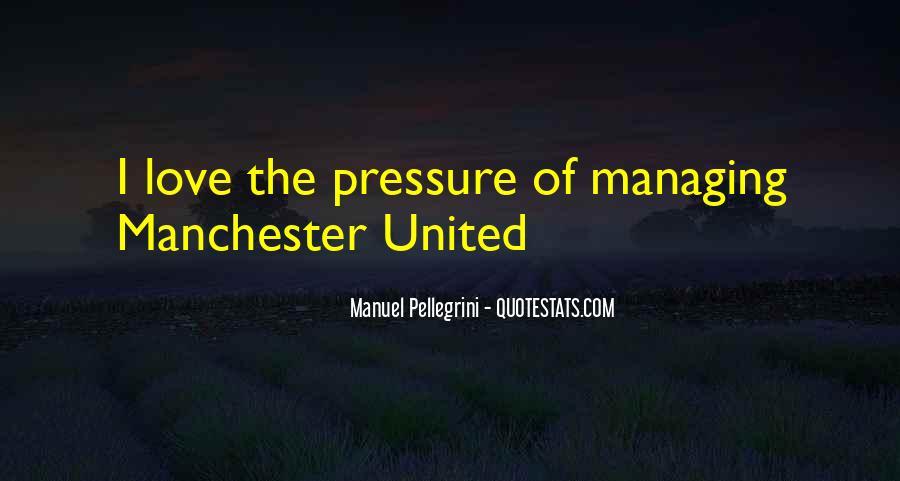 Quotes About Manuel Pellegrini #1147547