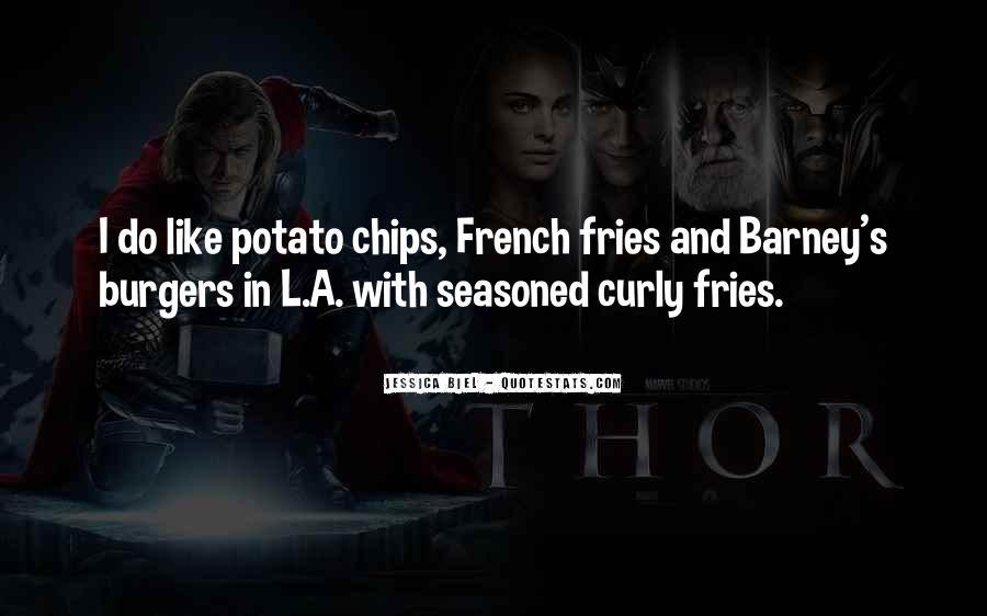 Potato Fries Quotes #1847273