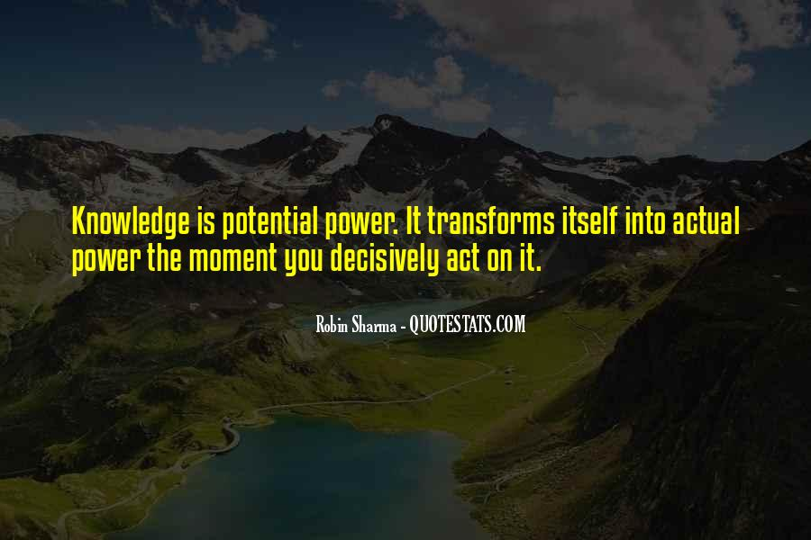 Power Is Knowledge Quotes #104381