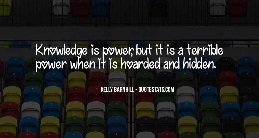 Power Is Knowledge Quotes #173168