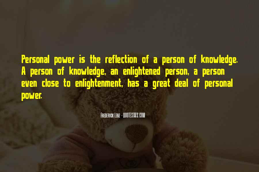 Power Is Knowledge Quotes #190615