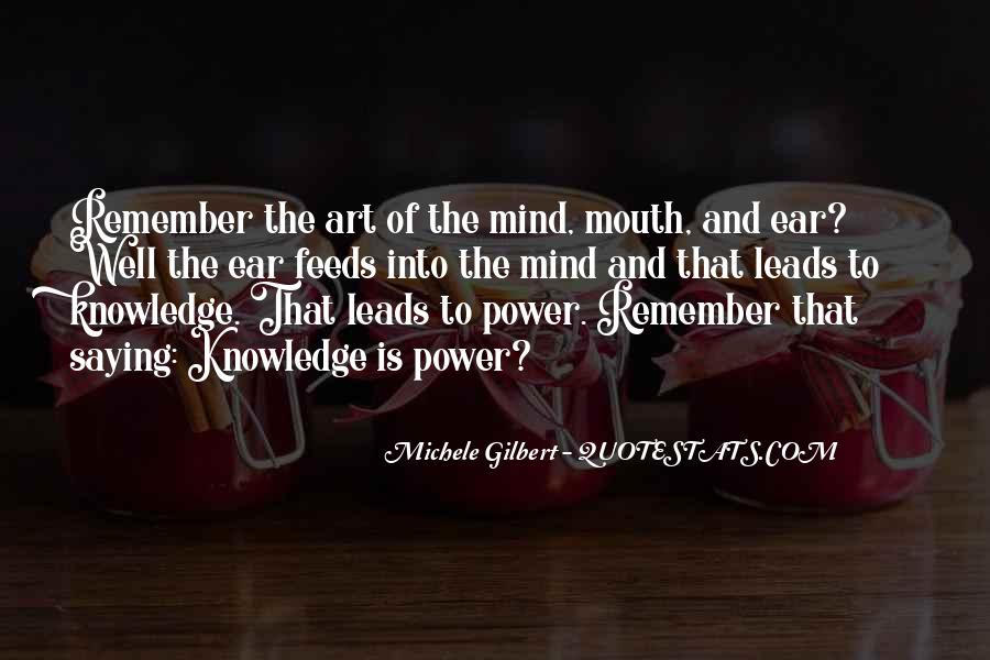 Power Is Knowledge Quotes #215824