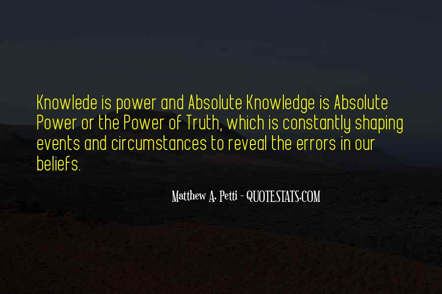 Power Is Knowledge Quotes #405519