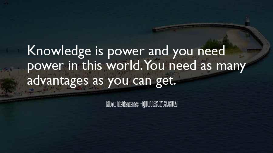 Power Is Knowledge Quotes #94688